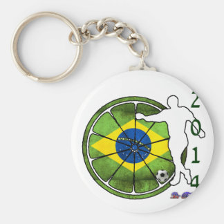 BRASIL 2014 GIFTS CUSTOMIZABLE PRODUCTS BASIC ROUND BUTTON KEY RING