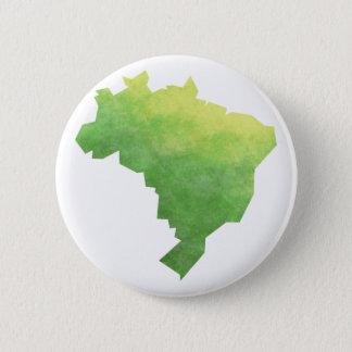 Brasil 6 Cm Round Badge
