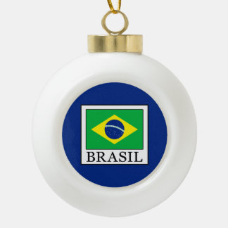 Brasil Ceramic Ball Christmas Ornament