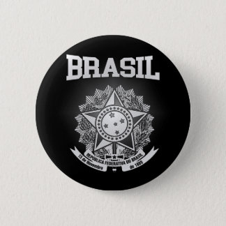 Brasil Coat of Arms 6 Cm Round Badge