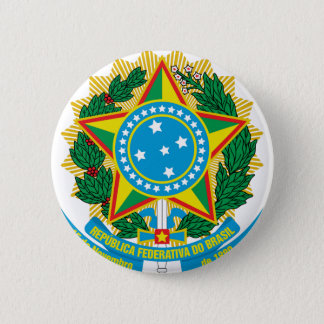 Brasil  Coat of Arms 6 Cm Round Badge
