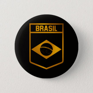 Brasil Emblem 6 Cm Round Badge