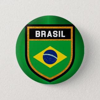 Brasil Flag 6 Cm Round Badge