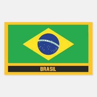 Brasil Flag Rectangular Sticker