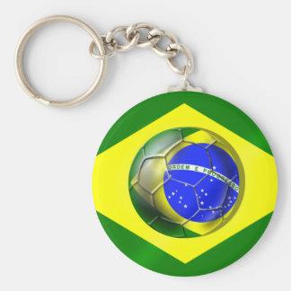 Brasil Futebol Bandeira soccer ball flag of Brazil Key Ring