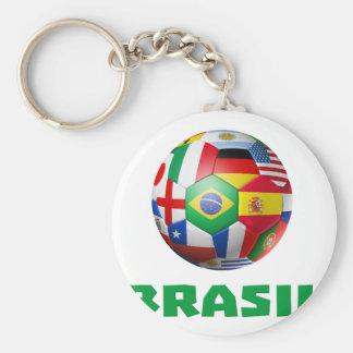 Brasil Futebol Key Chain