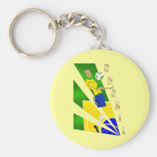 Brasil Graphic Chest control futebol Brazil gifts Keychains