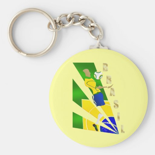 Brasil Graphic Chest control futebol Brazil gifts Keychains