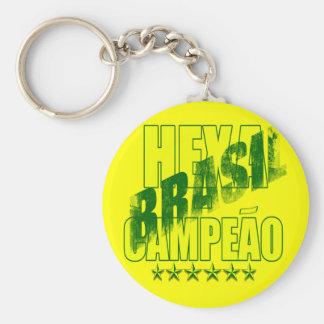 Brasil Hexacampeão Brasil Hexa Keychain