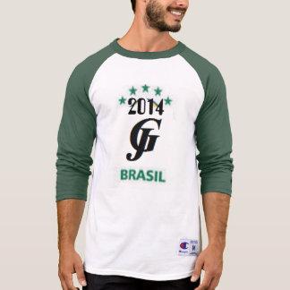 Brasil Men's Champion Raglan 3/4 Sleeve Shirt Tshirts