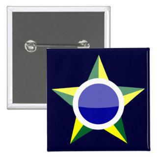Brasil Pinback Buttons