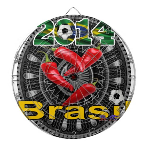 BRASIL RED PEPPERS CUSTOMIZABLE PRODUCTS DARTBOARDS
