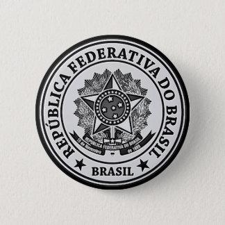 Brasil Round Emblem 6 Cm Round Badge