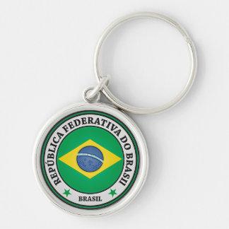 Brasil Round Emblem Key Ring