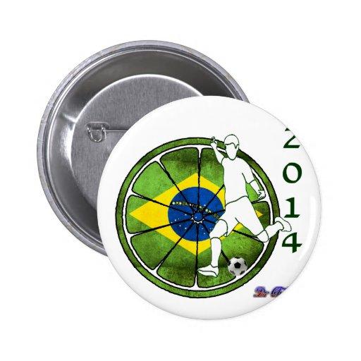 BRASIL SOCCER 2014 GIFTS CUSTOMIZABLE PIN