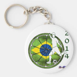 BRASIL SOCCER 2014 GIFTS CUSTOMIZABLE BASIC ROUND BUTTON KEY RING