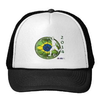 BRASIL SOCCER 2014 GIFTS CUSTOMIZABLE MESH HAT