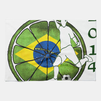 BRASIL SOCCER 2014 GIFTS CUSTOMIZABLE HAND TOWELS
