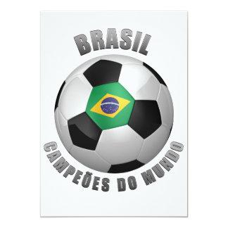 BRASIL SOCCER CHAMPIONS 13 CM X 18 CM INVITATION CARD