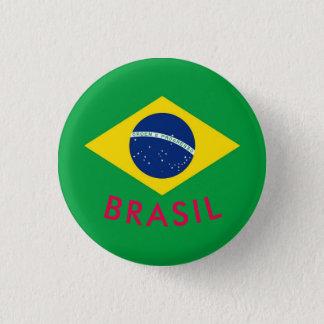 brasil swipes in 3 cm round badge