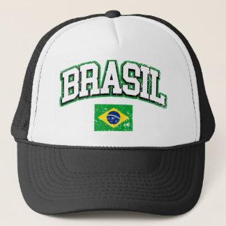 Brasil Vintage Flag Trucker Hat