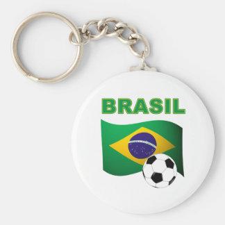 Brasil World Cup t-shirt Basic Round Button Key Ring