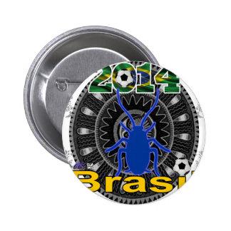 BRASIL WORLDCUP CUCARACHA CUSTOMIZABLE PIN