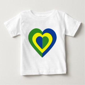 brasile-heart-2. baby T-Shirt