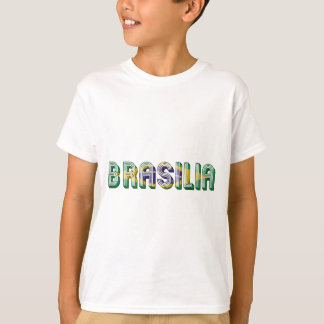 Brasilia Brasil Brazil Typography Flag Colors T-Shirt