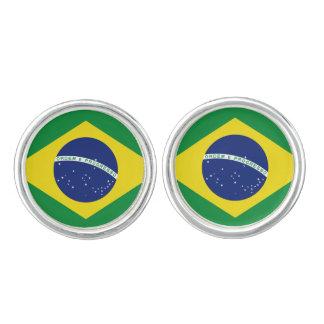 Brasilian flag cufflinks | Brasil pride