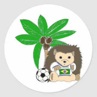 Brasilian HedgeHog Classic Round Sticker