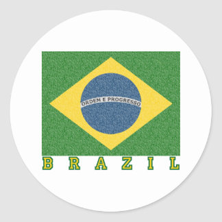 Brasilian soccer 2010 round sticker