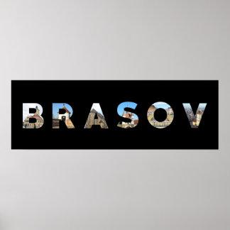 brasov city romania landmark inside name symbol poster