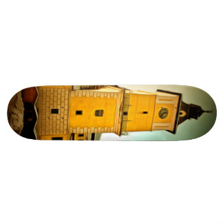 Brasov Council tower painting Skateboard Deck