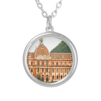 Brasov in Transylvania, Romania Silver Plated Necklace