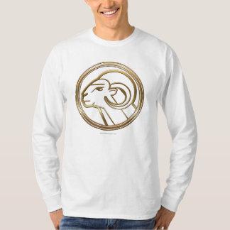Brass and Copper Aries Zodiac Astrology T-Shirt