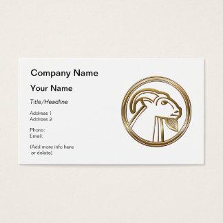 Brass and Copper Capricorn Zodiac Astrology Business Card