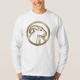 Brass and Copper Capricorn Zodiac Astrology T-Shirt