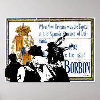 Brass Band Bourbon St Tile Mural Poster