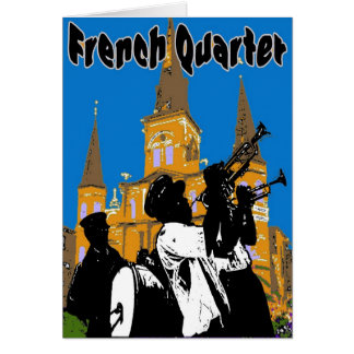 Brass Band French Quarter Card
