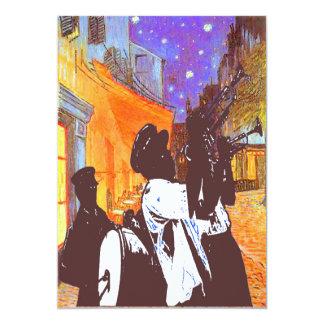 Brass Band, Night Cafe 13 Cm X 18 Cm Invitation Card