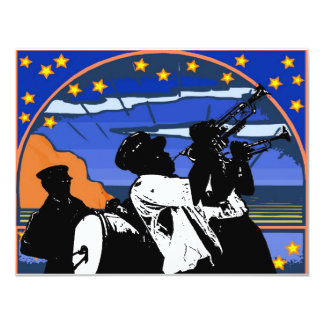 Brass Band Stars 11 Cm X 14 Cm Invitation Card