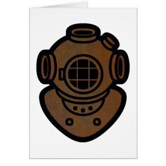 Brass Diving Helmet Card
