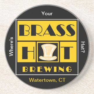 Brass Hat Brewing Sandstone Coaster
