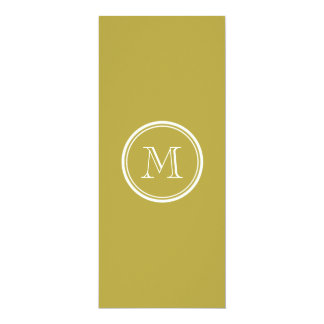 Brass High End Colored Monogrammed Personalized Invites