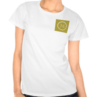 Brass High End Colored Monogrammed T Shirts