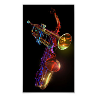 Brass Instruments Mini Poster