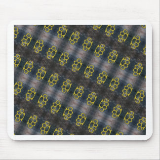 Brass Knuckles Pattern Mouse Pad