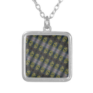 Brass Knuckles Pattern Silver Plated Necklace