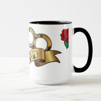 Brass Knuckles Tattoo DAD Mug